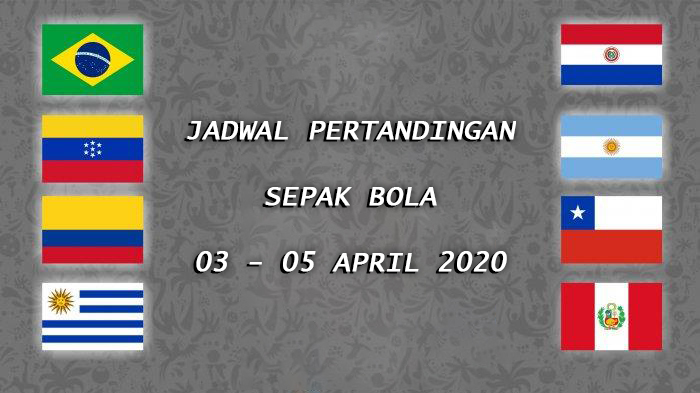 Jadwal Pertandingan Sepak Bola 03 – 05 April 2020